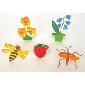 Other - Vintage Hand Painted Spring Napkin Rings- set of 5